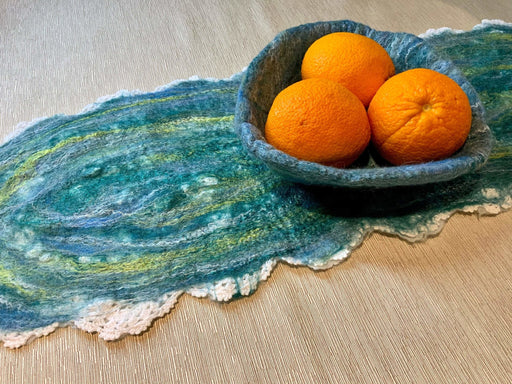Bowl and table runner - Artfest Ontario - Love to Felt Artwear - Clothing & Accessories