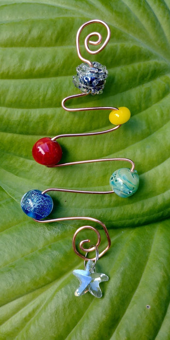 Brass and Glass Ornaments - Artfest Ontario - Fire & Flame Glassworks - Glass Work