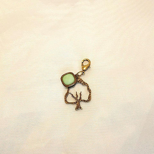 Brass Tree Green Collar Charm - Artfest Ontario - Moosonee Puppy Rescue - Jewelry & Accessories