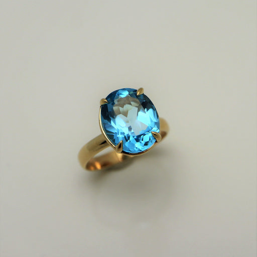 Brielle - Blue Topaz & 14K Gold Ring - Artfest Ontario - Devine Fine Jewellery - Ring