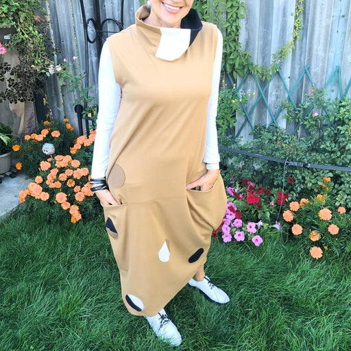 Brown Boho Dress - Artfest Ontario - OlgaG Knits - Clothing & Accessories