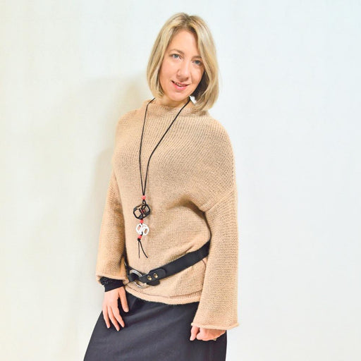 Brown Laila Sweater - Artfest Ontario - OlgaG Knits - Clothing & Accessories