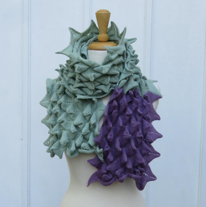Bubble Points Scarf Green NEW DESIGN - Artfest Ontario - Carolyn M. Barnett Designs - Clothing & Accessories