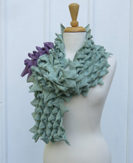 Bubble Points Scarf Green NEW DESIGN - Artfest Ontario