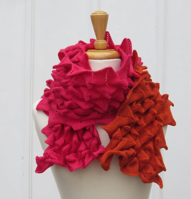 Bubble Points' Scarf Red NEW DESIGN - Artfest Ontario - Carolyn M. Barnett Designs - Clothing & Accessories