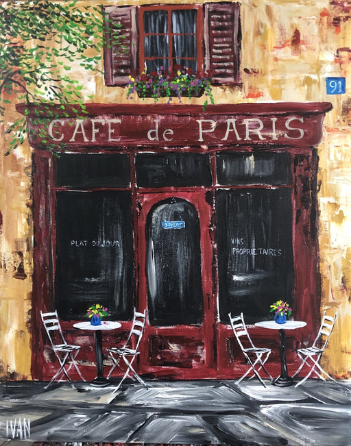 Cafe de Paris - Artfest Ontario - Art by Ivan - Painting