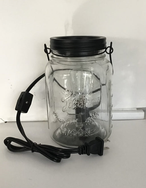 Candle Warmer -wax melter - Illuminated Style, Mason Jar removable dish - Artfest Ontario - North Country Candle - Furniture & Houseware