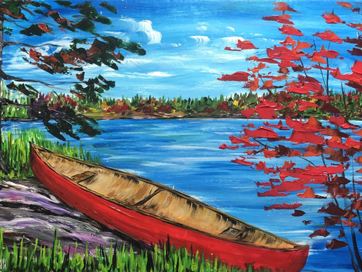 Canoe on the Rocks - Artfest Ontario - Art by Ivan - Painting