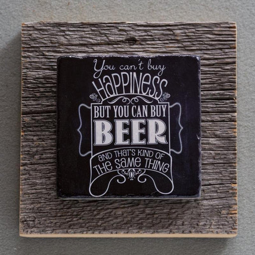Can't Buy Happiness - On Barn Board 4219 - Artfest Ontario - Art On Stone - Photography