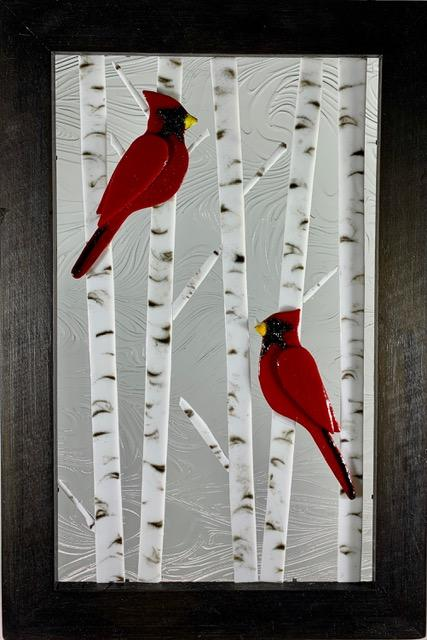 Cardinals in Birch Tree - Artfest Ontario