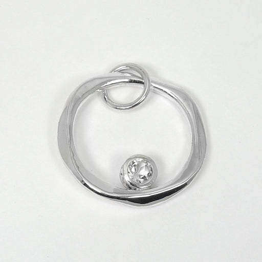 Carley - White Topaz & Sterling Silver Ring - Artfest Ontario - Devine Fine Jewellery - Pendant/ Necklace