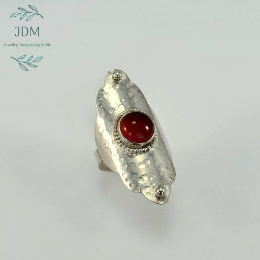 Carnelian Saddle Ring - JDM Jewelry Designs by Mikki - Artfest Ontario - JDM - Jewelry Designs by Mikki - Jewelry & Accessories