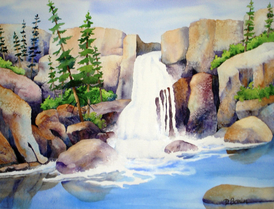 Cascade - Artfest Ontario - Back-in-Time Gallery - Paintings by Donna Bonin - Paintings, Artwork & Sculpture