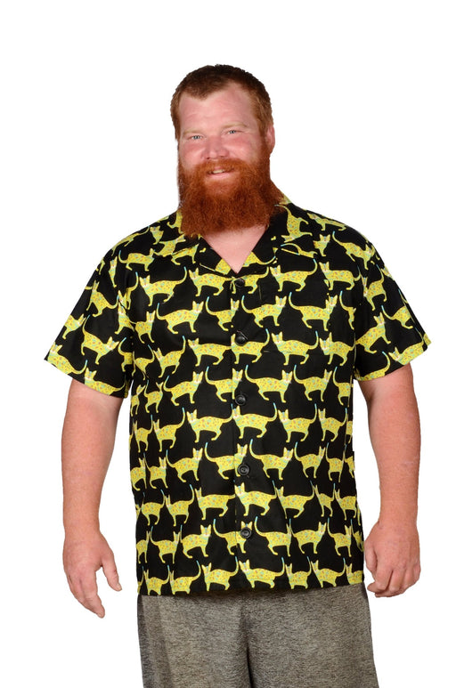 Cats And More Cats Pattern - Black - Casual Shirt - Artfest Ontario - Joe-Feak - Clothing & Accessories