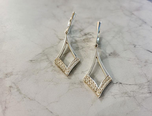Celtic Diamond Shaped Earrings - Artfest Ontario - Delicate Touch Jewellery - Fine Jewellery