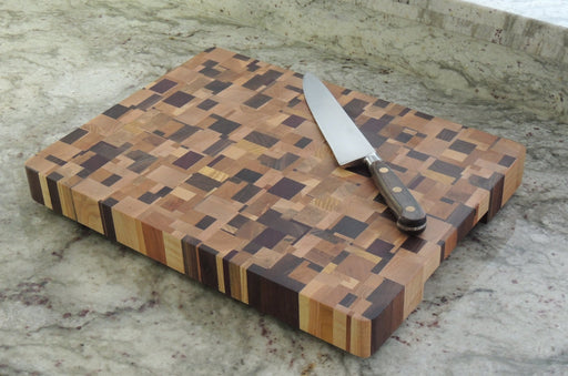 Chaotic Rectangle Pattern Cutting Board - Artfest Ontario - Kevin's Offcuts - woodwork
