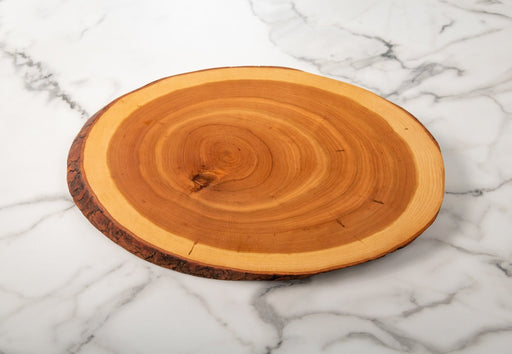 Cherry Charcuterie Board with Bark - Artfest Ontario - Live Edged Woodcraft -