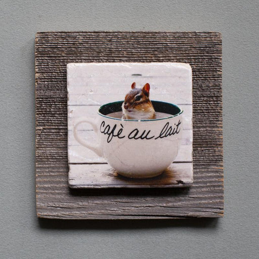 Chippy Au Lait - On Barn Board 0119 - Artfest Ontario - Art On Stone - Photography