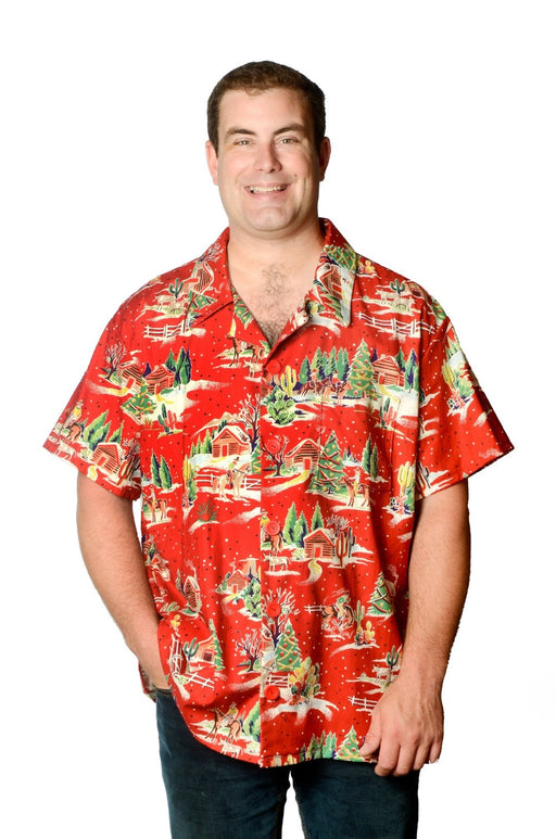 Christmas in the Country - Hawaiian Shirt - Artfest Ontario - Joe-Feak - Clothing & Accessories