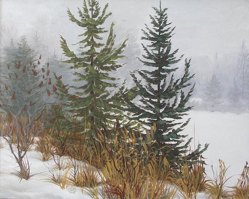 Christmas Trees - Artfest Ontario - Olena Lopatina - Paintings