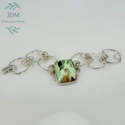 Chrome Chalcedony Link Bracelet - JDM Jewelry Designs by Mikki - Artfest Ontario - JDM - Jewelry Designs by Mikki - Jewelry & Accessories