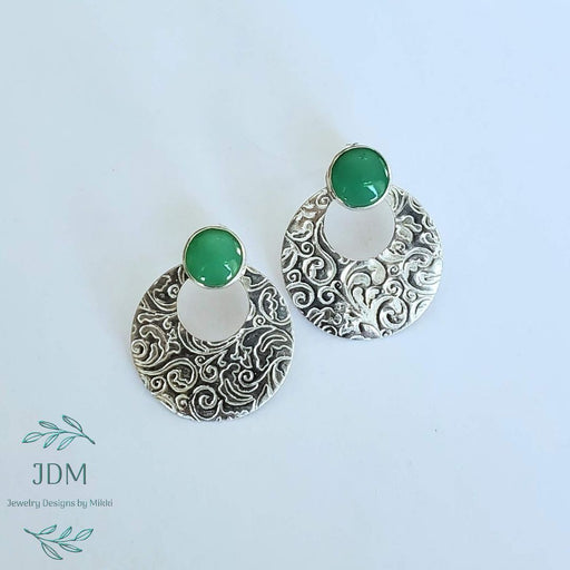Chrysoprase Earrings - Artfest Ontario - JDM - Jewelry Designs by Mikki - Jewelry & Accessories