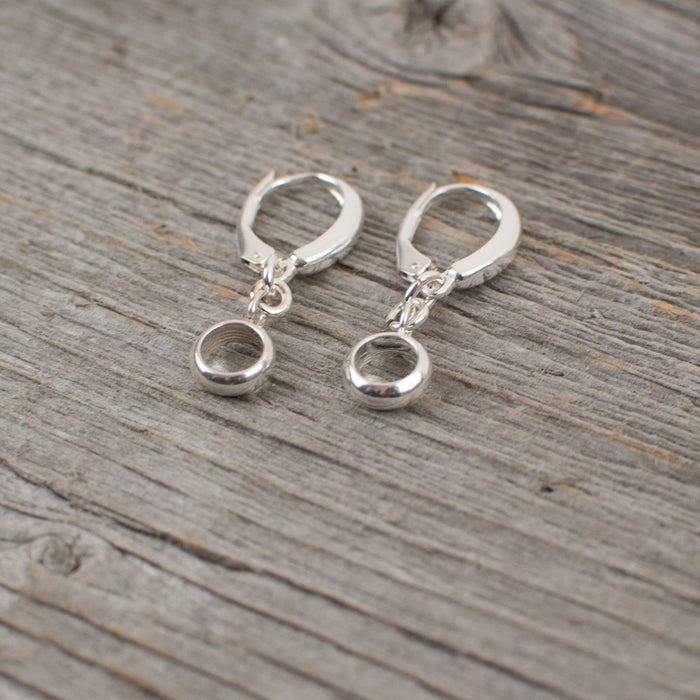 Circle dangle sterling silver earrings - Artfest Ontario - Lisa Young Design - Earrings
