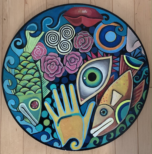 Circle Fish - Artfest Ontario - Sue Davies Art - Paintings