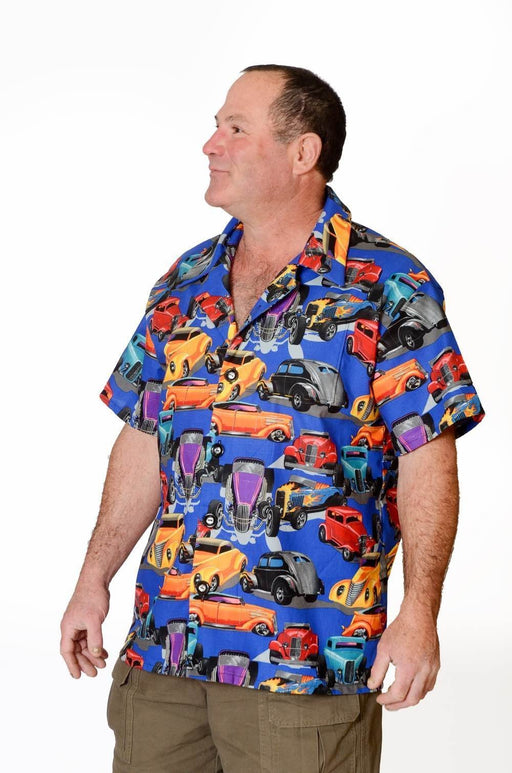 Classic Cars Retro Pattern - Hawaiian Shirt - Artfest Ontario - Joe-Feak - Clothing & Accessories