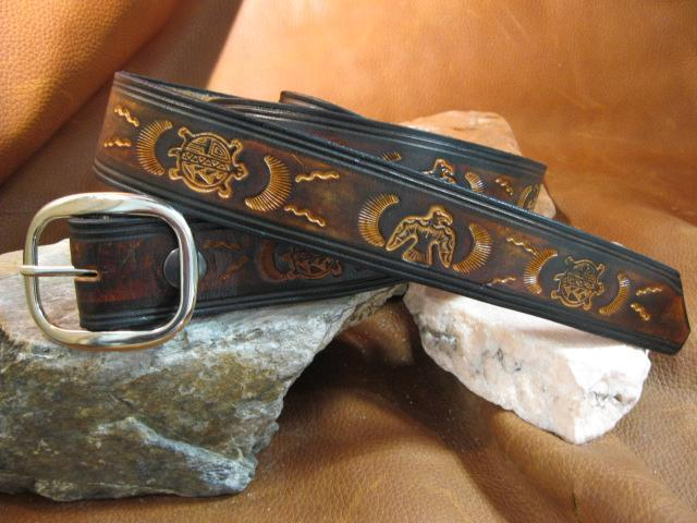 Classic tooling Turtle and thunder - Artfest Ontario - Gu krea..shun - Leather belts