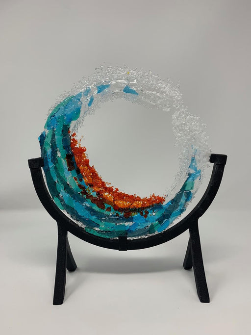 "Coastal Waves 8"" - Artfest Ontario - Shardz Art Glass - Glass Work"