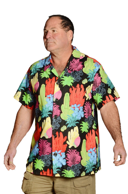 Colorful Undersea Coral Print - Hawaiian Shirt - Artfest Ontario - Joe-Feak - Clothing & Accessories