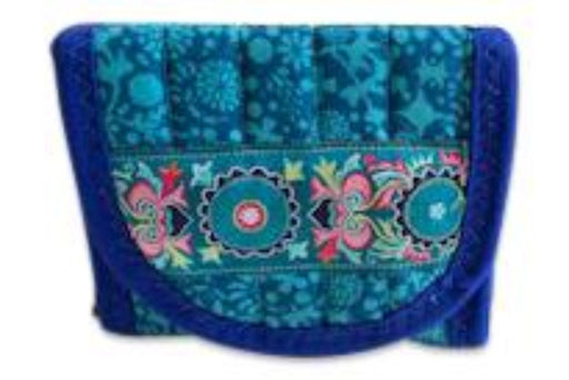 Colour Me Blue Everyday Pocket Wallet - Artfest Ontario - EMA Design Treasures - Quilted Products