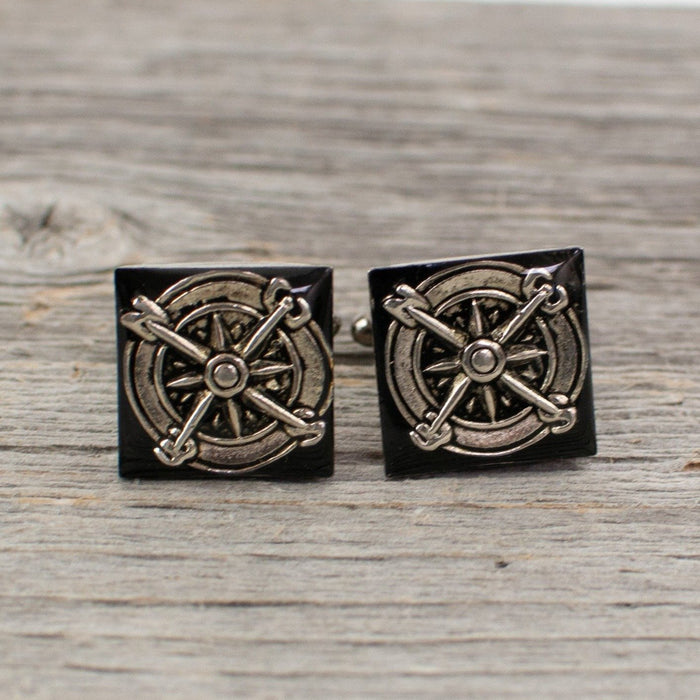 Compass Cuff links - Artfest Ontario - Lisa Young Design - Cuff Links