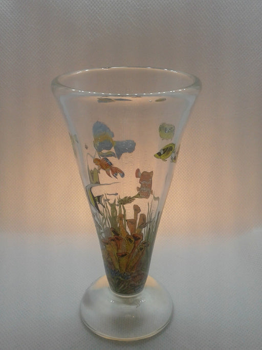 Coral Reef Champagne Flute - Artfest Ontario - Lukian Glass Studios - Glass Work