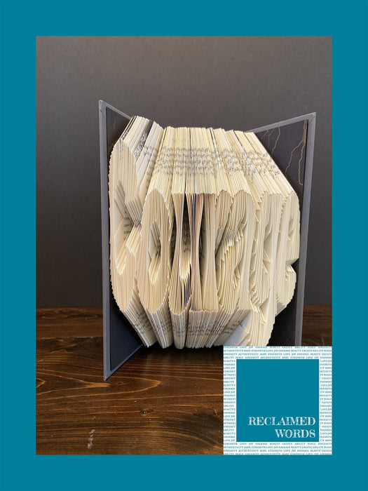 Courage Book - Artfest Ontario - Reclaimed Words -