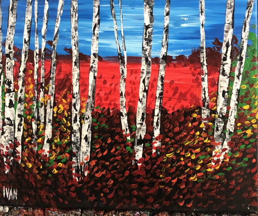 Crimson Forest - Artfest Ontario - Art by Ivan - Painting