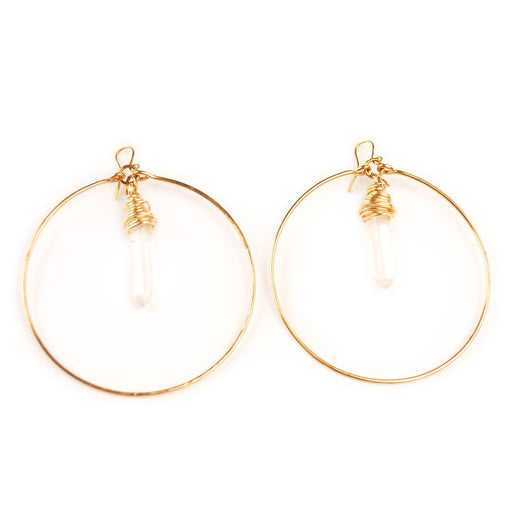 Crystal Hoops - Artfest Ontario - Raw Jewelry - Jewelry & Accessories
