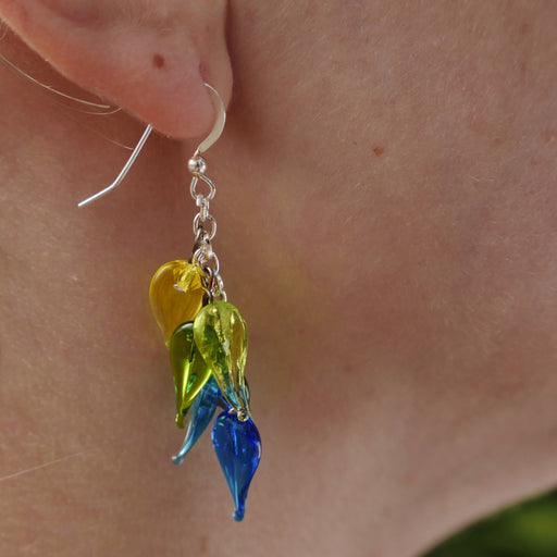 Dangle Earrings - Artfest Ontario - Fire & Flame Glassworks - Glass Work