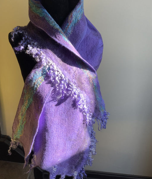 Dark and light purples - Artfest Ontario - Love to Felt Artwear - Clothing & Accessories