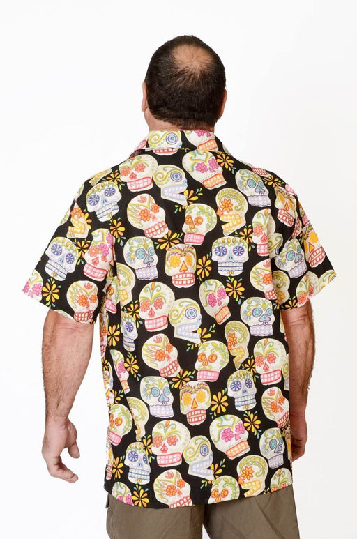 Day of the Dead Skull Pattern - Hawaiian Shirt - Artfest Ontario - Joe-Feak - Clothing & Accessories