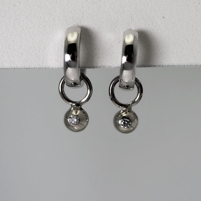 Denise - White Gold - Artfest Ontario - Devine Fine Jewellery - Earrings
