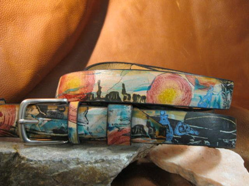 Desert and the artists impression of Clint - Artfest Ontario - Gu krea..shun - Leather belts