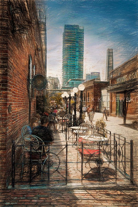 Distillery Cafe (Toronto, Ontario) - Artfest Ontario - Alex Krajewski Gallery - Paintings -Artwork - Sculpture