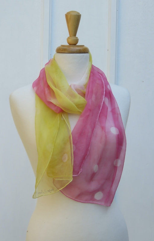 Dots on Fire Hand-painted Silk Scarf - Artfest Ontario - Carolyn M. Barnett Designs - Clothing & Accessories
