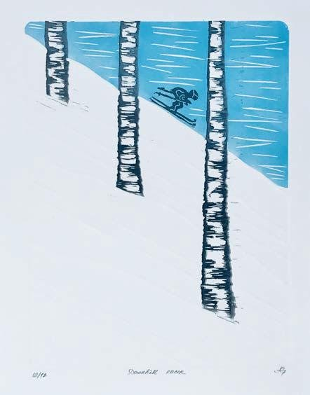 Downhill Racer - Artfest Ontario - Elena Gorlenko Prints - Paintings -Artwork - Sculpture