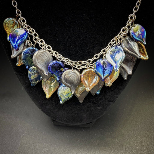 Dragon Scales Necklace - Artfest Ontario - Fire & Flame Glassworks - Glass Work