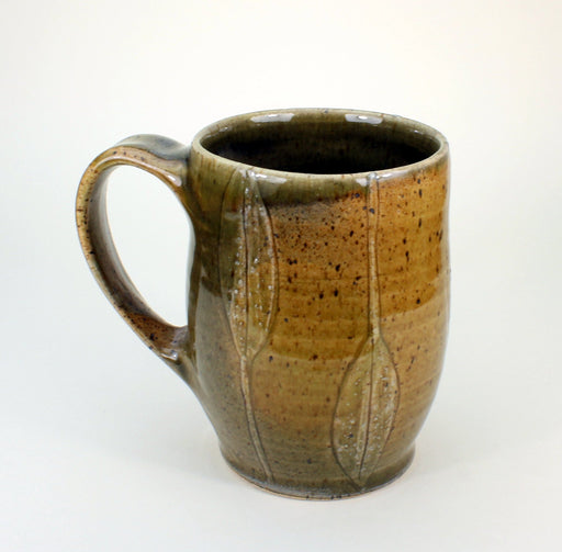 Earthy Golden Leaf Mug - Artfest Ontario - One Rock Pottery - Mugs