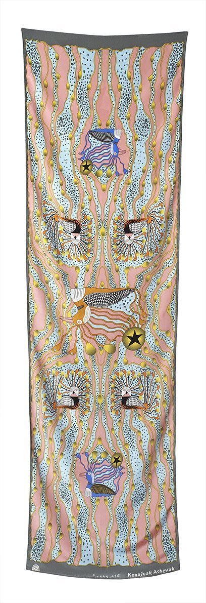 Enchanted Birds Rectangular Scarf (Bush) - Artfest Ontario - Inunoo - Rectangular Scarves