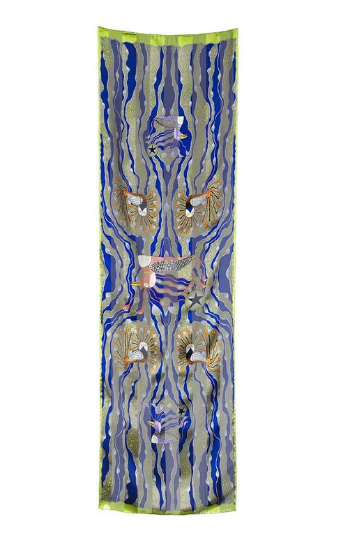 Enchanted Birds Rectangular Scarf (Violet) - Artfest Ontario - Inunoo - Rectangular Scarves